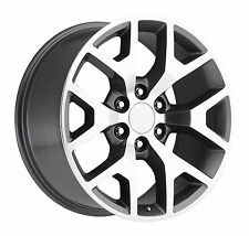 "NEW! (4) 26"" Set Grey Machine GMC Sierra Chevy 1500 Silverado Tahoe Wheels Rims"