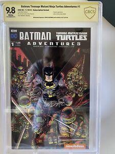 Batman Teenage Mutant Ninja Turtles adventures 1 9.8 CBCS Eastman Signed & Sketc