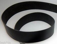 Lederriemen schwarz für Gürtel-Riemen 125,0 x 3,0 cm x 3mm Lederleinen, Larp neu