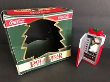 1994 Coca Cola Holiday Christmas Tree Ornament Polar Bear Collection Vending