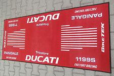 DUCATI Panigale 1199S Tricolore Garagen- Teppich-Tankmatte