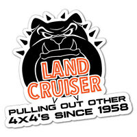 LANDCRUISER PULLING OUT 4X4 Sticker Decal 4x4 4WD Funny Ute #6545EN
