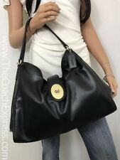 COACH Black Leather Madison Carlyle Shoulder Bag #37637