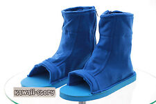 N-05 Azul Blue Ninja Shinobi Naruto Tela Zapatos Cosplay Shoes