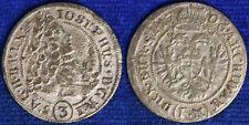GIUSEPPE I 3 KREUZER 1706 AUSTRIA ARGENTO #6814