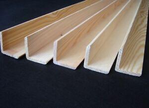 5 Winkelleisten Kiefer/Fichte 50x50 mm Länge 1m Winkelleiste Eckleiste Winkel