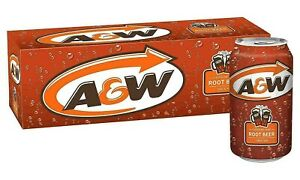A & W  AW Root Beer 355ml  x 24 cans Imported 2 x 12 pack