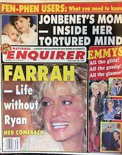National Enquirer. Sept. 1997. Farrah. Fawcett.  Ellen DeGeneres  Bette Midler