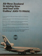 6/1974 PUB COLLINS RADIO ANS-70 RNAV MCDONNELL DOUGLAS DC-10 AIR NEW ZEALAND AD
