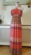 Pussy Cat London New Look Boob Tube Maxi Summer Beach Holiday Dress Size S 8 10