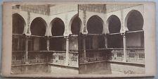 Photo Stéréo Albuminé Intérieur Mauresque Alger Vers 1870