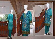 Indian/Pakistani Embroidered 3PC Lawn/Cotton Kurti/Kurta +Salwar & Dupata