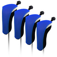 4PCS Blue Neoprene Hybrid Golf Cover Headcover For Callaway XR OS Adams IDEA MEN