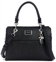 NWT GUESS ARTMONT HANDBAG Black Logo Satchel Crossbody Shoulder Bag GENUINE