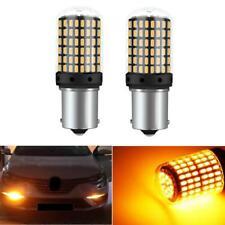 Car Auto Turn Single Light 1156 BAU15S 144 SMD LED Bulbs Canbus Light Amber 12V