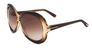 Tom Ford Margot Sunglasses Brown Frame Gradient Lens FT226 47F 63-5 130