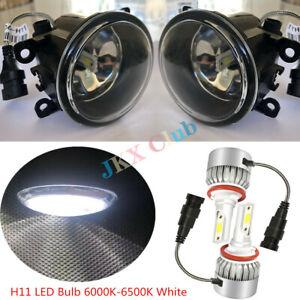 Pair Fog Light Lamp + LED Bulbs  for Ford Focus Fusion Ranger Explorer Mustang