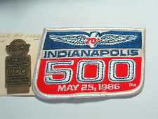 1986 Indianapolis 500 Bronze Corvette Pit Badge and Patch (#984) (**)