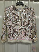 Girls Gorgeous Super Reflective Bling Jacket Coat Nwt L 10-12 Retail 29.99