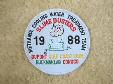 1988 SLIME BUSTERS METHANOL COOLING WATER TREATMENT TEAM PATCH---007