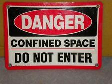 Metal Danger Sign Man Cave Door,