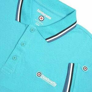 Lambretta Mens Triple Tip Regular Short Sleeve Cotton  Polo Shirt SIZE M-4XL