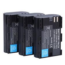 3Pcs LP-E6 Battery For Canon EOS 5DS R 5D Mark II III 6D 7D 60D 60Da 70D 80D