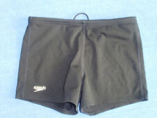 BOYS  SPEEDO BLACK  BOXER TYPE SWIM SHORTS AGE 12