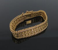 Vintage Russian 14K Yellow Gold Hand Made Multi Link Bracelet