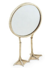 NEW Silver Bird Legged Table Mirror Round Dressing Table Stand Legs Animal 36cm