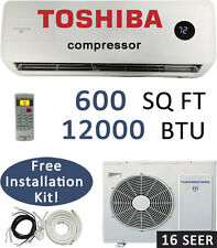 16 SEER - 12000 BTU Ductless Air Conditioner, Heat Pump Mini Split: 1 TON w/ KIT