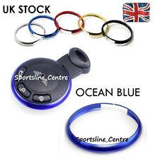 Occean Blue Key Ring Metal Fob Trim Surround BMW Mini JCW ONE COOPER S Works ob