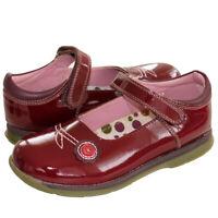 RRP £59 Hush Puppies Girls TEENY Burgundy Leather Mary Jane School Shoes UK 12
