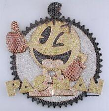Customize Hip-Hop 3.5'' Long Pacman 925 Silver Lab-Created Diamond Pendant