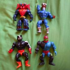 4 80s Figure he man toy model motu vintage stinkor trap jaw mek a neck mantenna