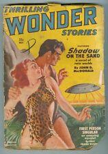 Thrilling Wonder Stories October 1950 G- UFO cover, JDM