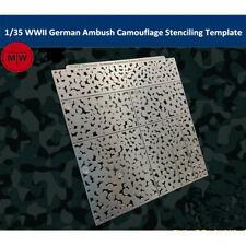 1/35 WWII German Armour Ambush Camouflage Leakage Spray Stenciling Template