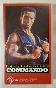 Commando VHS 1985 Action Arnold Schwarzenegger 1993 Fox Video (Non-Rental)
