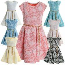 Mädchen Kinder Spitze Peticoat Sommer Festlich Hochzeit Kleid Kostüm 20335