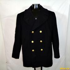 1949 Vintage Wool Us Navy Naval Peacoat Pea Coat Mens Size L 44 Blue military