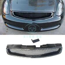 Carbon Fiber Front Grille Middle Grill Fit For Infiniti G35 2D Coupe 2003-2007