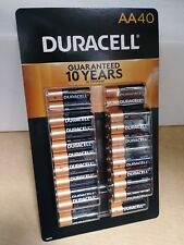 Duracell AA 40ct battery pack 40 batteries coppertop WORLDWIDE SHIPPING !