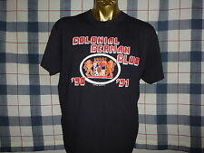 vintage 90s COLONIAL GERMAN CLUB EAST AND WEST GERMANY UNITED BLACK t shirt L XL