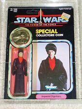 Vintage Star Wars 1985 AFA 80/80/85 IMPERIAL DIGNITARY POTF 92 Card Back MOC UNP