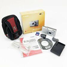 Canon PowerShot A4000 IS 16.0MP Camera - Silver w/extras 32GB SD Card & Case EUC
