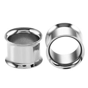 Stainless steel screw on Ear Gauge Ear plug Flesh Tunnel Ear Tunnel punk 3-28mm