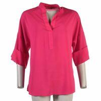 ISAAC MIZRAHI Top Hot Pink Oversized Size 2 UK 6 RC 211