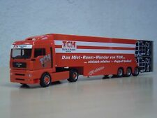 "Herpa-MAN TGA XLX Doppio Stock-SZ ""TCH TRUCK + TRAILER RENTAL"" N. 152884 -1:87"
