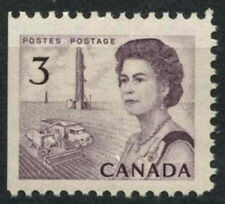 Canada 1967-73 SG#581, 3c QEII Definitive MNH P12 Imperf Left #D6967