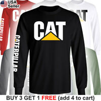 Caterpillar Long T-Shirt CAT Logo Tractor Equipment Bulldozer Construction BLD